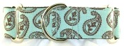 Paisley martingale collars