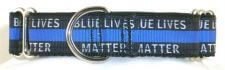 Blue Lives Matter dog collar