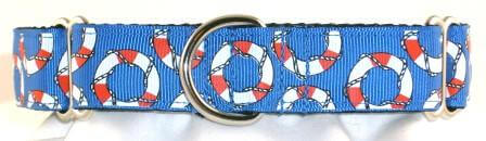 Nautical Rings dog collar