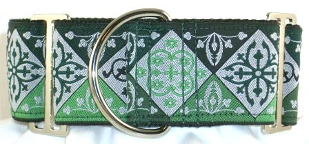 Noble Green dog collar