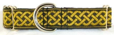 Celtic Knots-Gold martingale collar