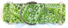 Bandana Lime Green dog collar
