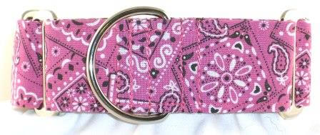 Bandana Pink dog collar
