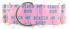 Beach Bum Pink dog collar