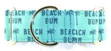 Beach Bum Teal dog collar