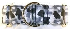 Camo Black and White dog collar