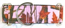 Camo Woods Pink dog collar