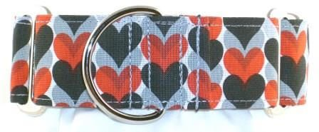 Hearts and Shadows dog collar