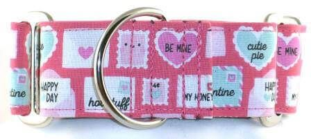 Love Notes Pink dog collar