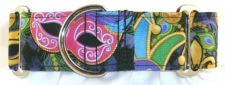 Mardi Gras Masks dog collar