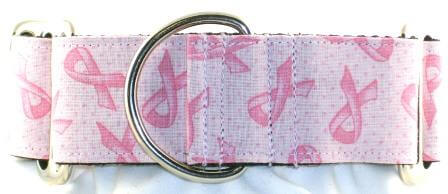 Pink Ribbon dog collar