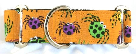 Spooky Spiders dog collar