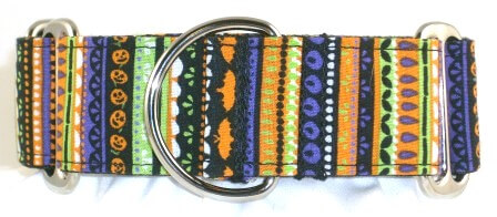 Spooky Stripe dog collar